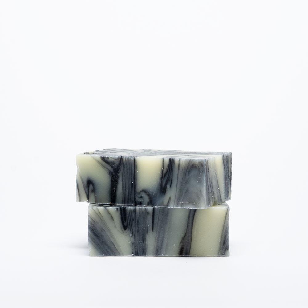 Lemongrass & Charcoal handmade soap Two Naked Bars