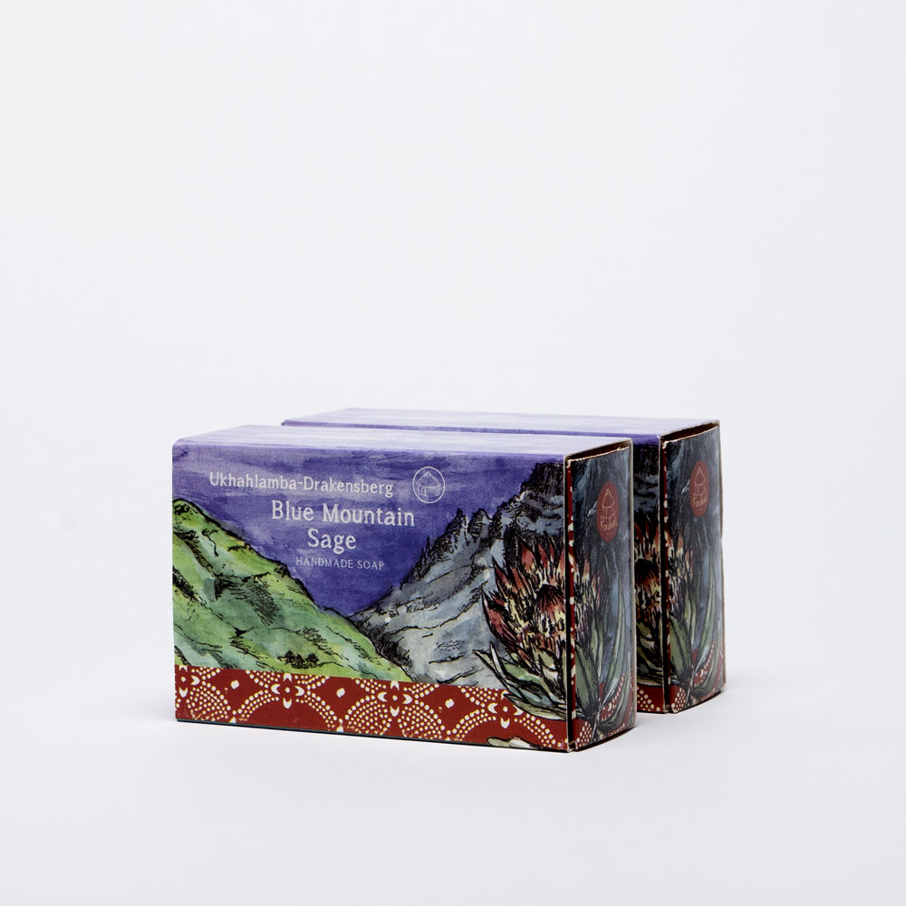 Blue Mountain Sage soap Side view two boxes
