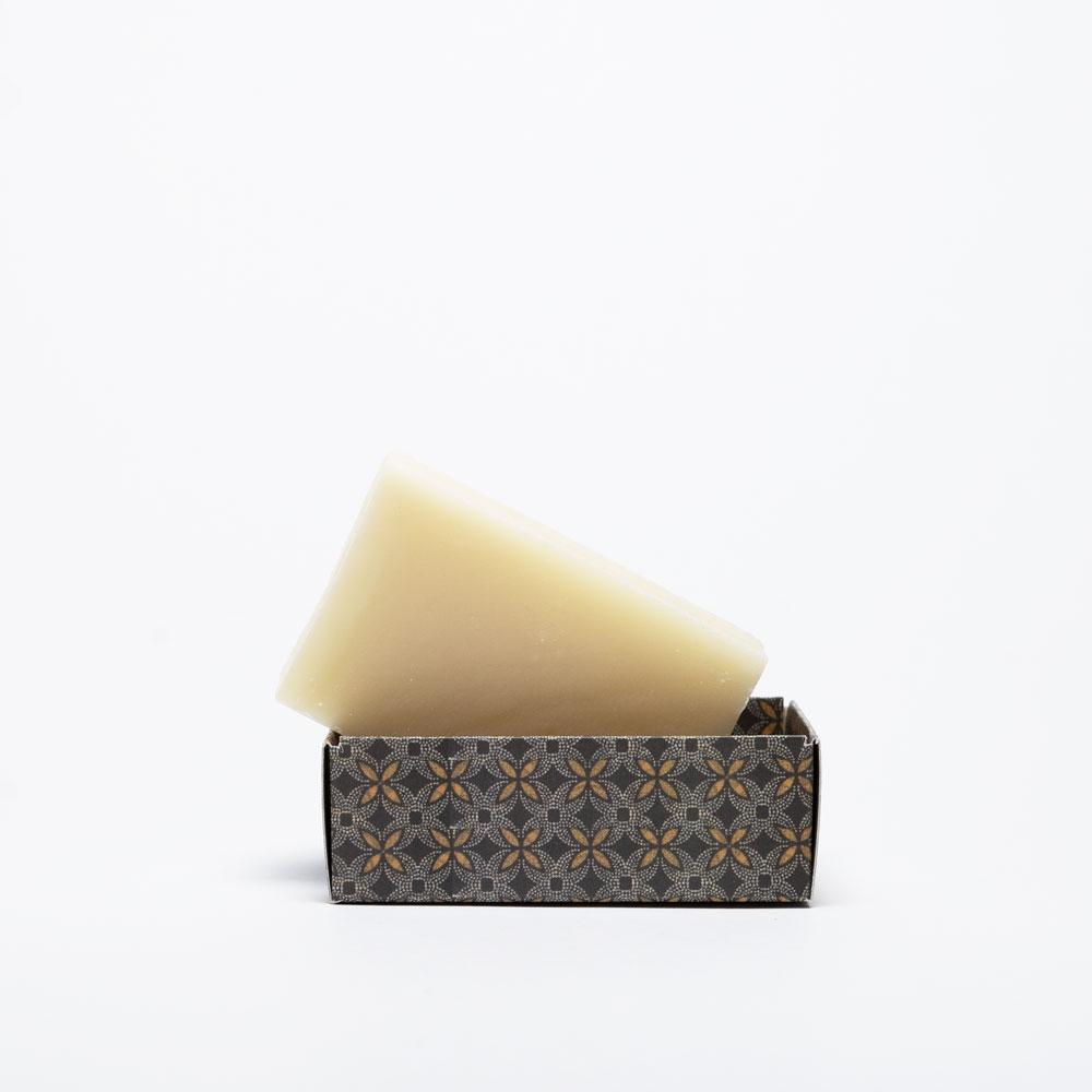 Karoo Lavender and Honeybush soap Naked bar in open box