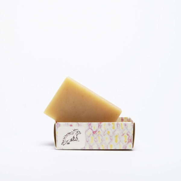 Milk and Honey soap Naked bar in open box